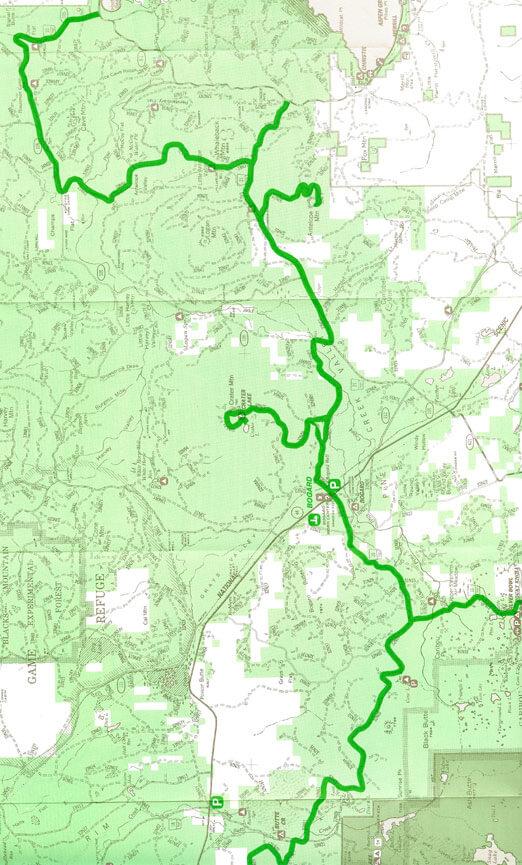 Bogard Snowmobile Area Snowmobiling Map