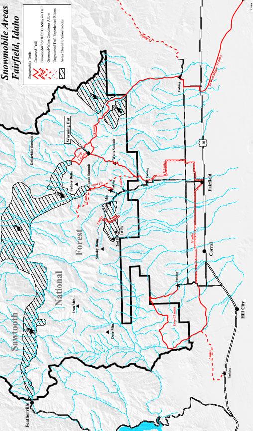 Fairfield Snowmobiling Map
