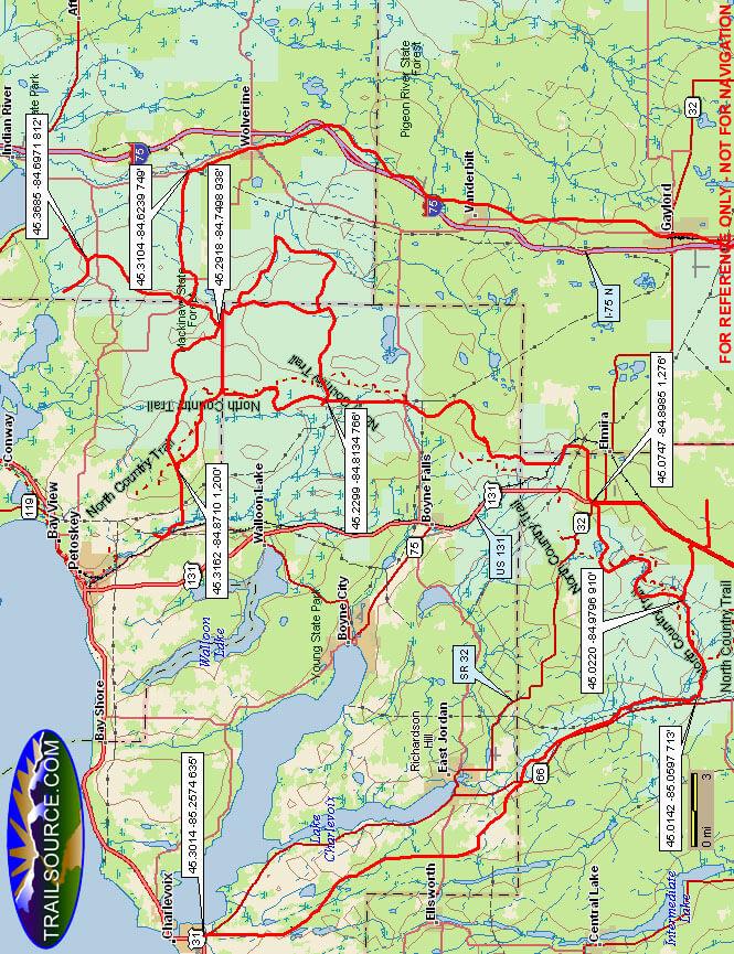Boyne Snowmobiling Map