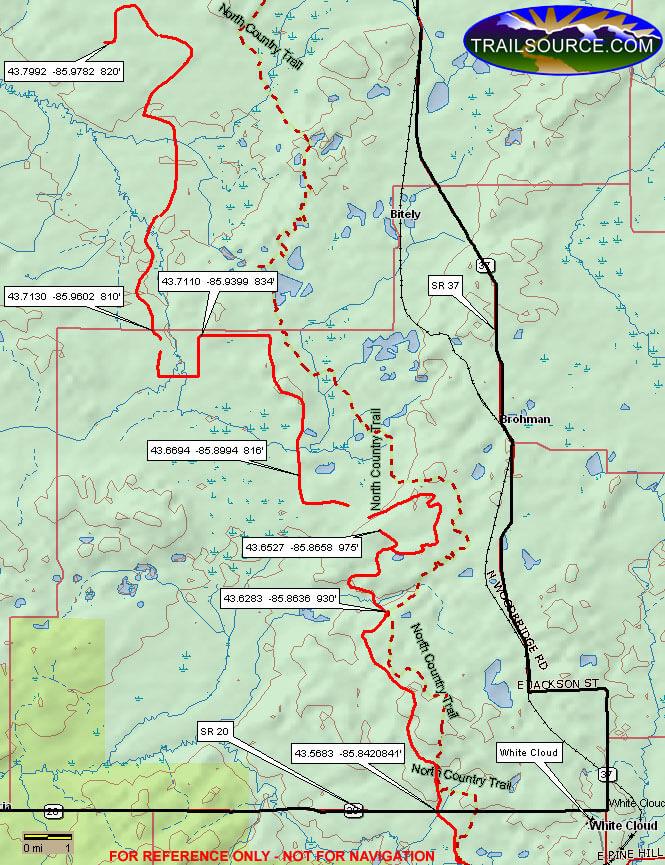 MCCCT - White Cloud ATV Trails Map
