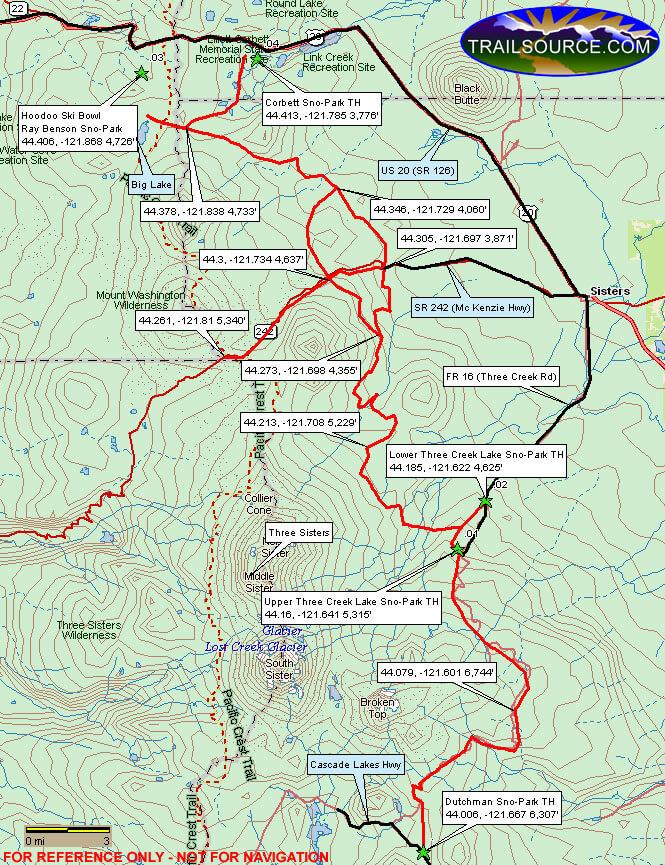 Hoodoo Snowmobiling Map