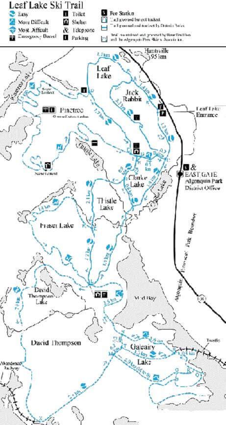 Leaf Lake Ski Trail Cross Country Skiing Map