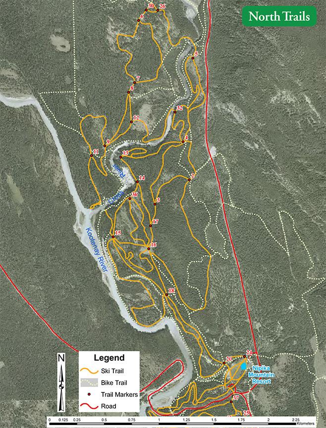 Nipika Mountain Resort Mountain Biking Map