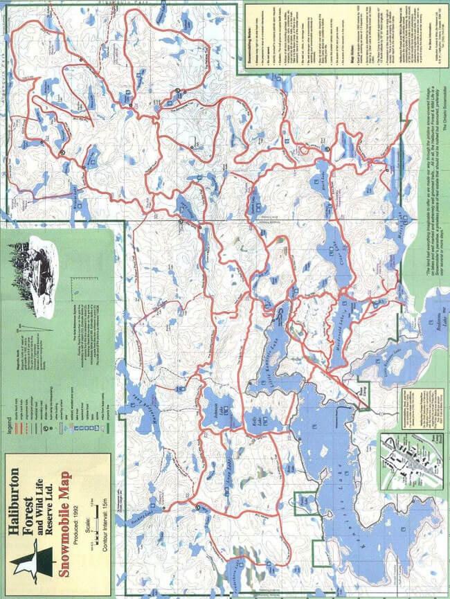 Haliburton Snowmobiling Map