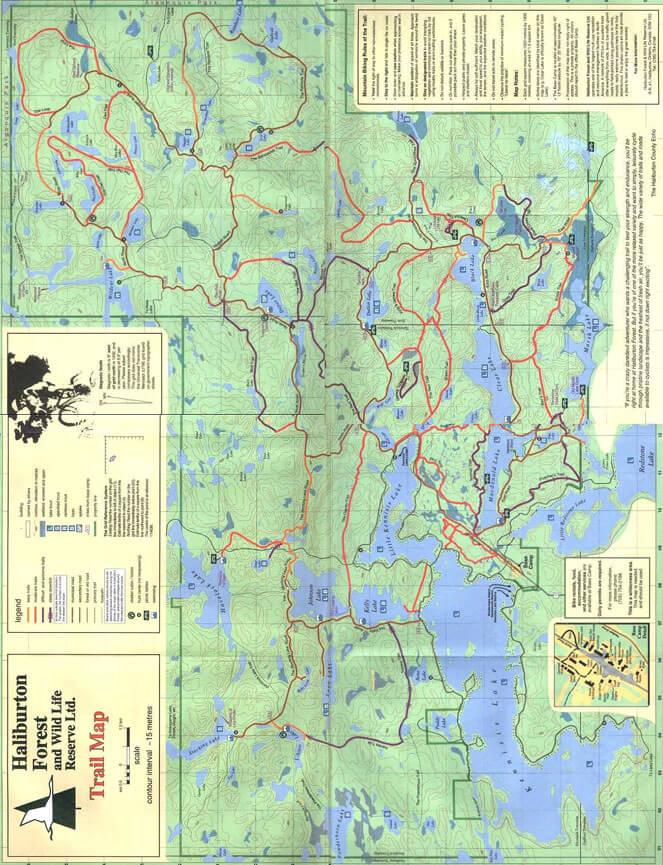 Haliburton Forest Horseback Riding Map