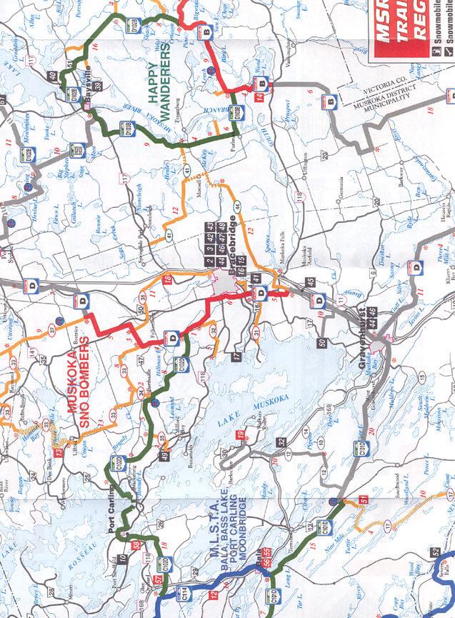 Muskoka Snowmobiling Map