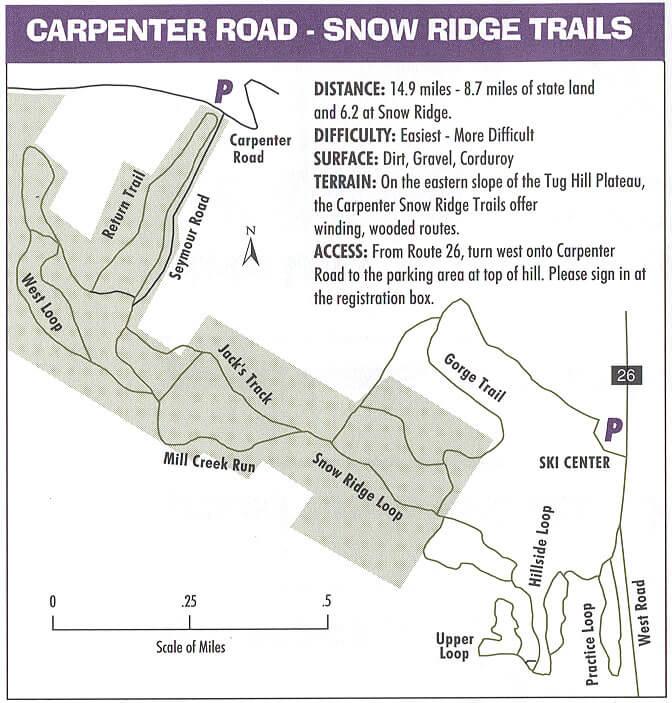 Snow Ridge - Carpenter Road Mountain Biking Map
