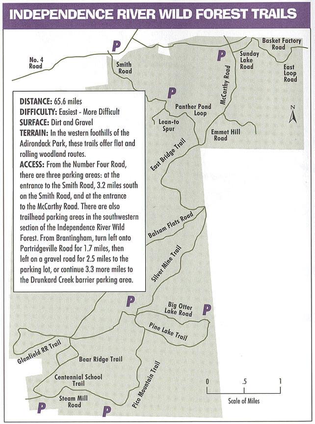 Independence River Mountain Biking Map