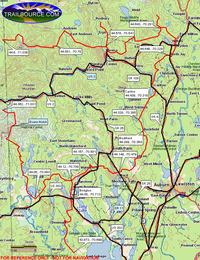 White Mountain National Forest Snowmobiling Map