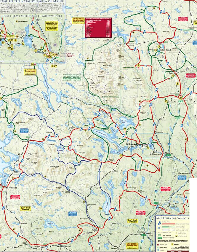 Katahdin Region Snowmobiling Map