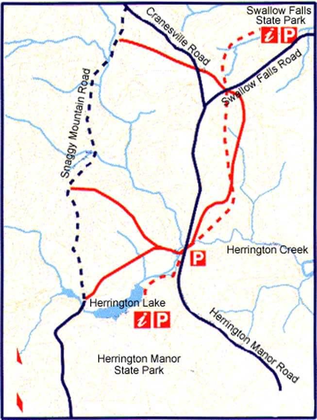 Garrett Trail System Hiking Map