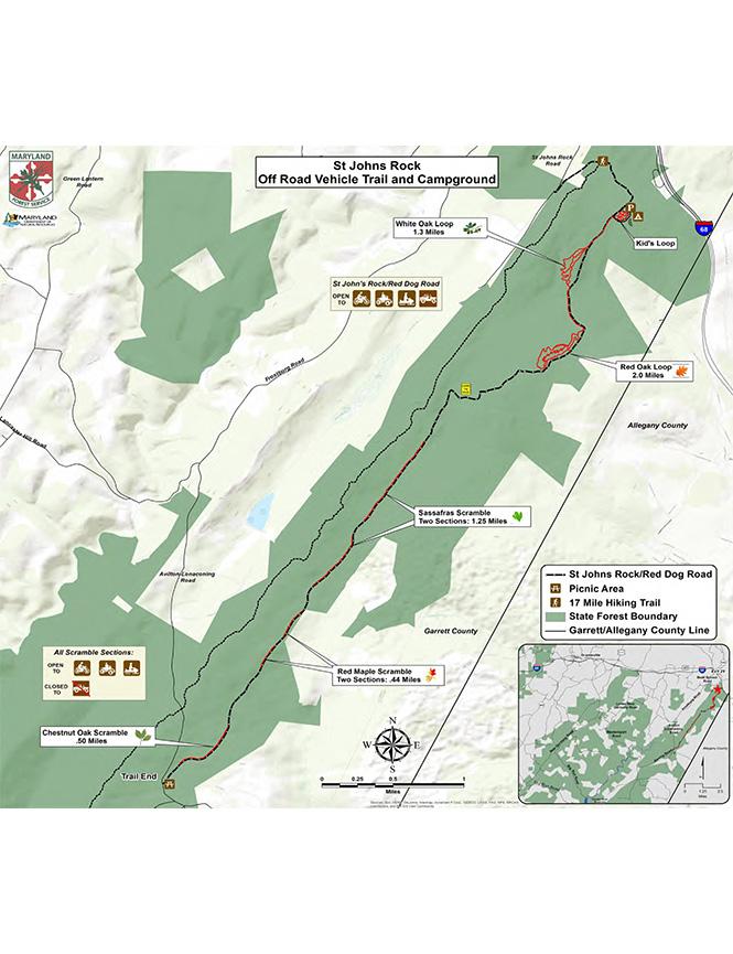 Garrett Trail System ATV Trails Map