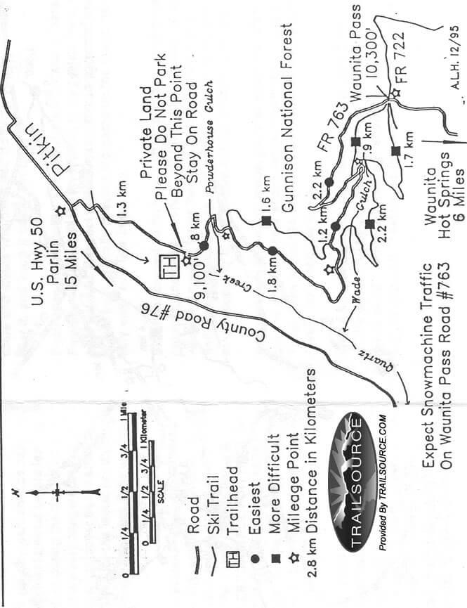 Waunita Cross Country Skiing Map