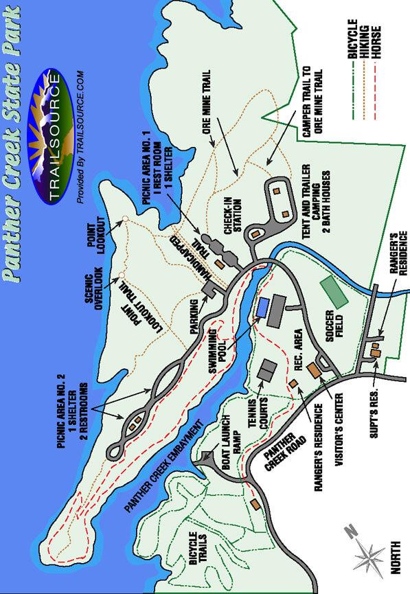 Panther Creek State Park Hiking Map