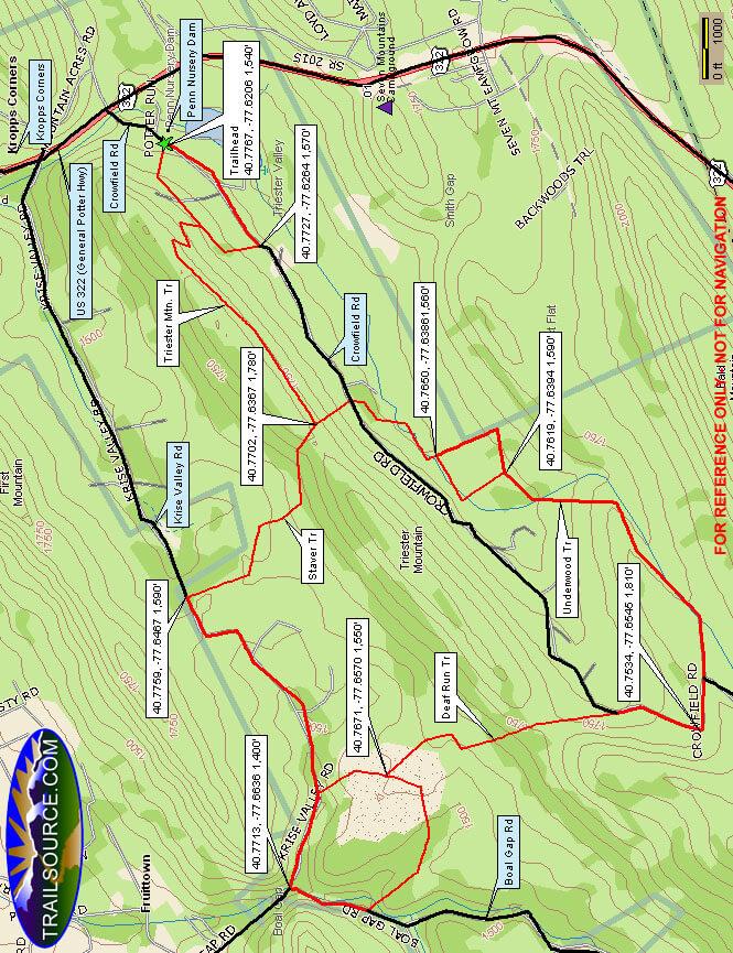 Triester Mountain Trail Mountain Biking Map