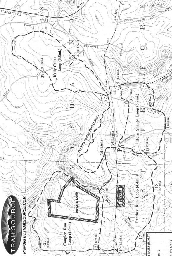 Rockton Mountain Trails Mountain Biking Map