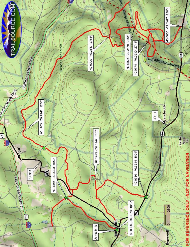 Mountain Streams Trail System Horseback Riding Map