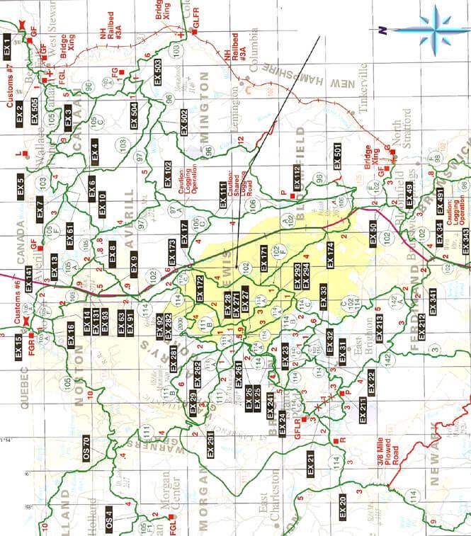 Northeast Kingdom Snowmobiling Map