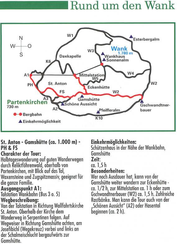 Rund um den Wank Hiking Map