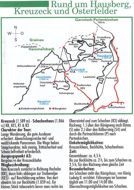Rund um den Hausberg Hiking Map