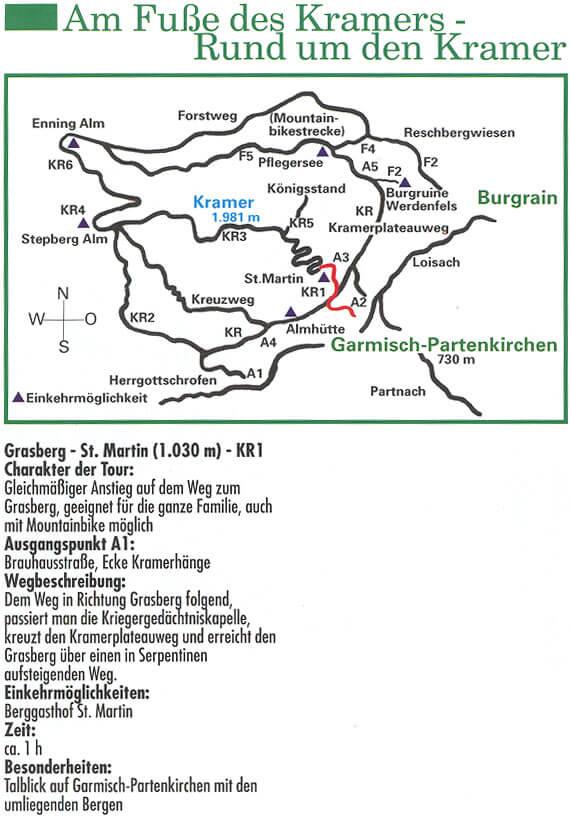 Rund um den Kramer Hiking Map
