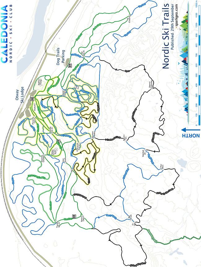 Otway XC Ski Centre Cross Country Skiing Map
