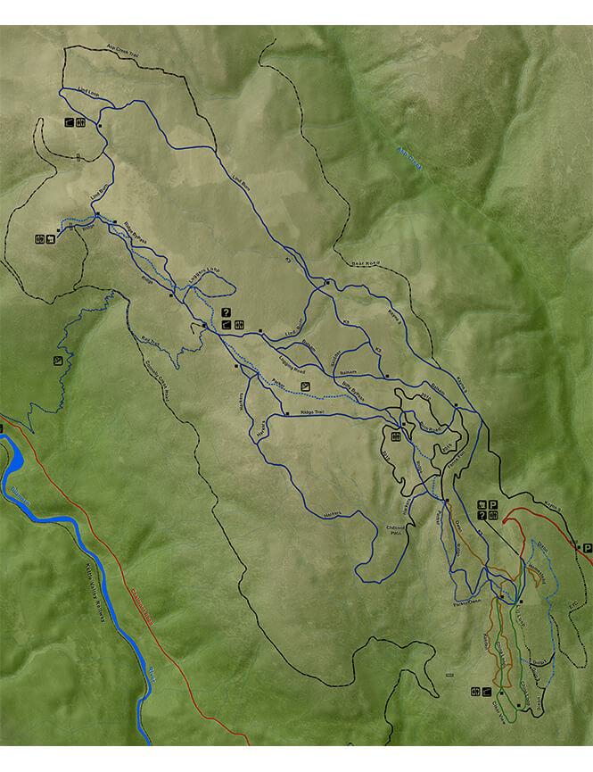 China Ridge Cross Country Skiing Map