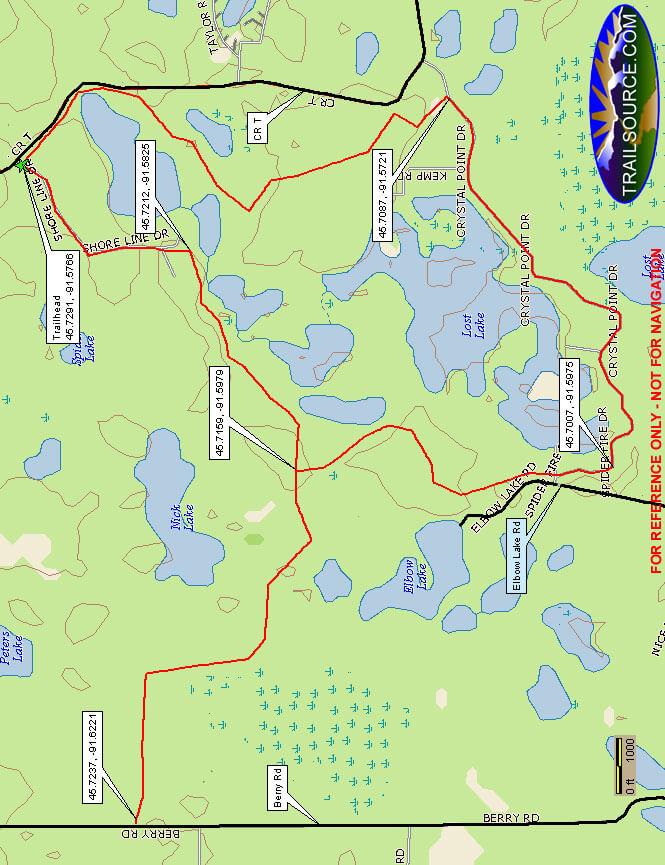 Spider Lake ATV Trail ATV Trails Map