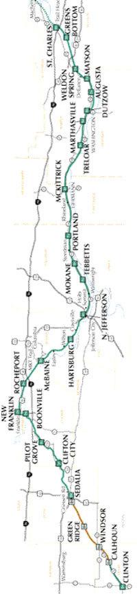 Katy Trail Mountain Biking Map