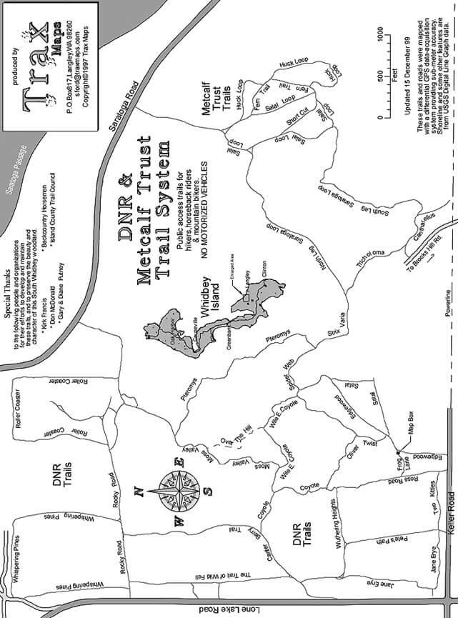 Metcalf Trust Trail System Horseback Riding Map