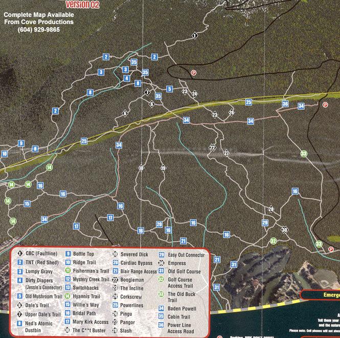 North Shore - Seymour Mountain Biking Map