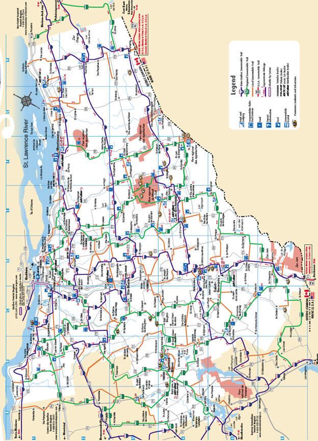 Chaudière-Appalaches Snowmobiling Map