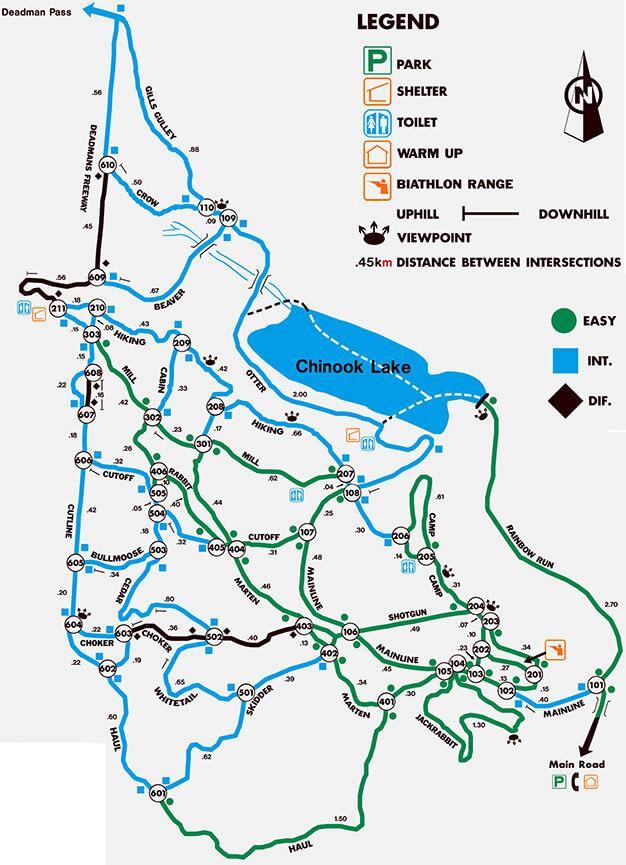 Allison - Chinook Recreation Area Mountain Biking Map