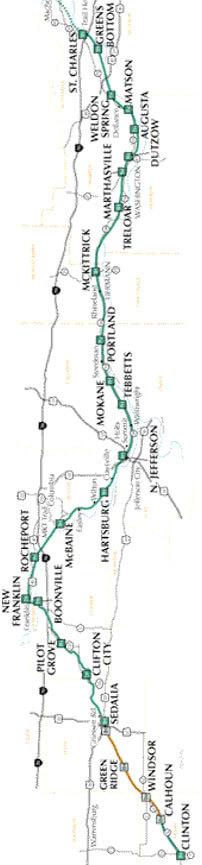 Katy Trail State Park Horseback Riding Map