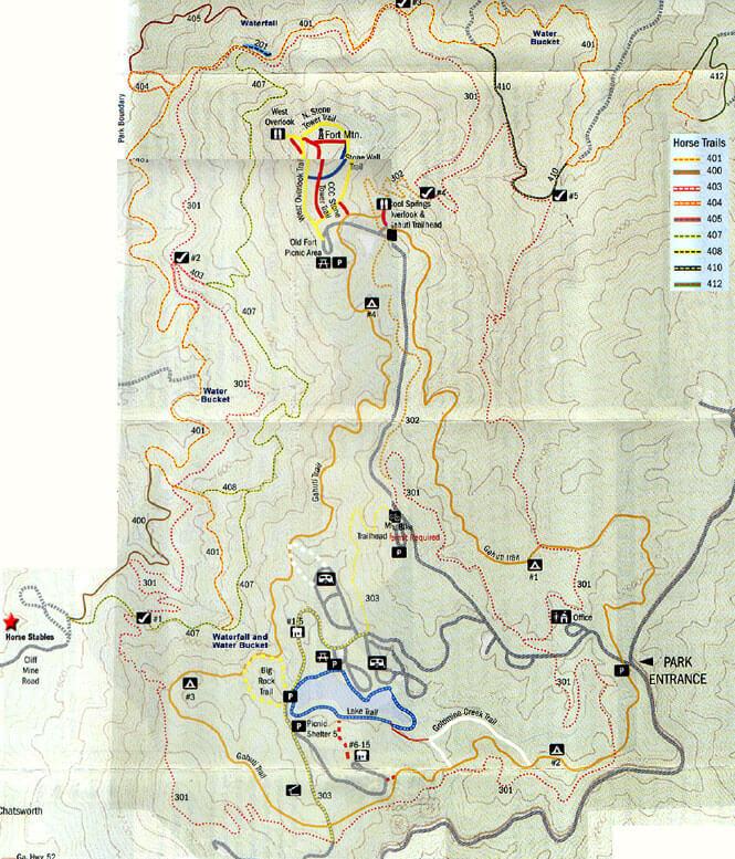 Fort Mountain State Park Horseback Riding Map