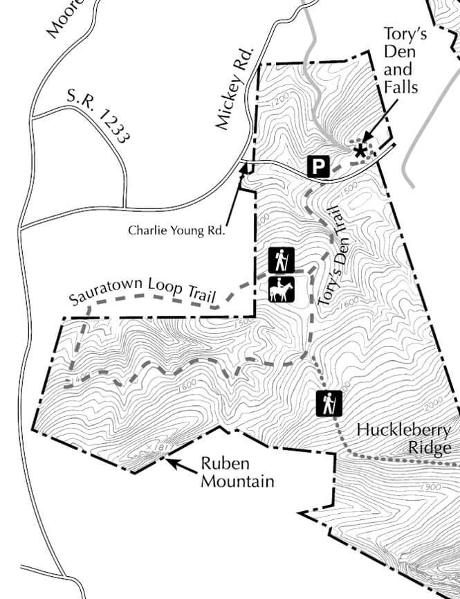 Sauratown Loop Horseback Riding Map