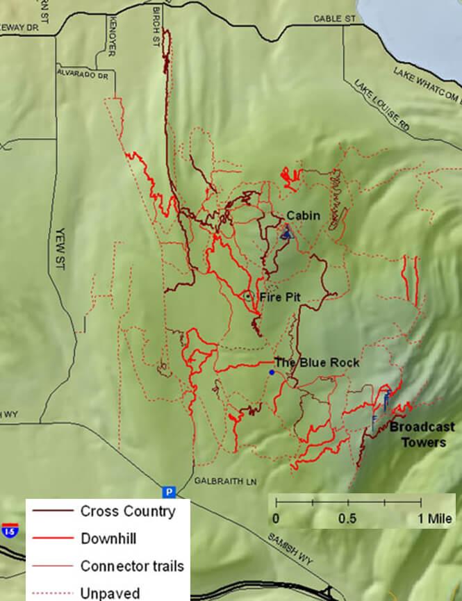 Galbraith Mountain Bike Trail Network Mountain Biking Map