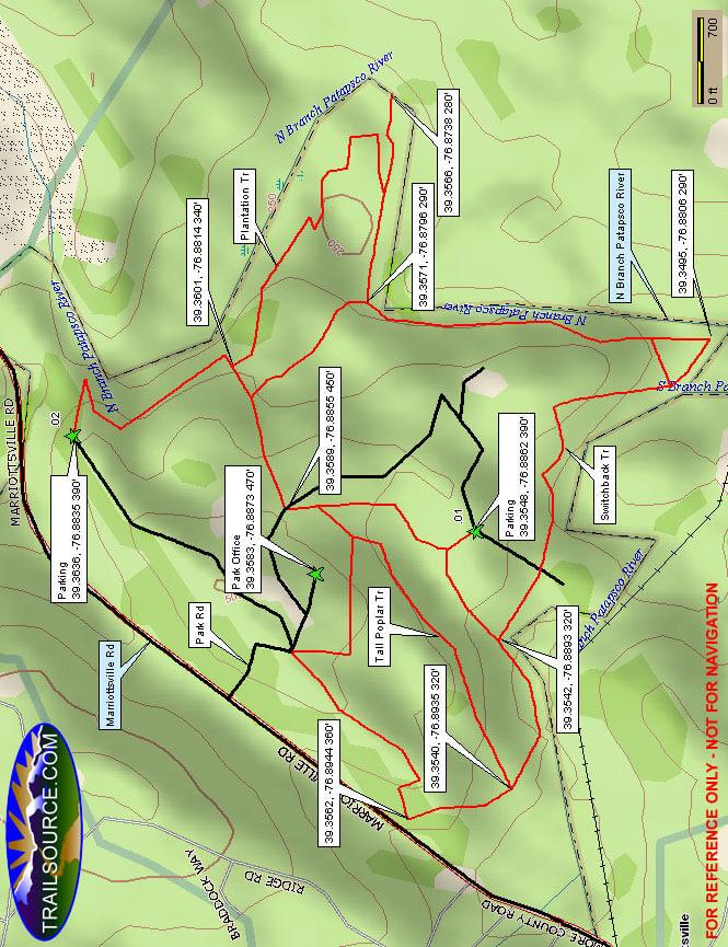 McKeldin Area Horseback Riding Map
