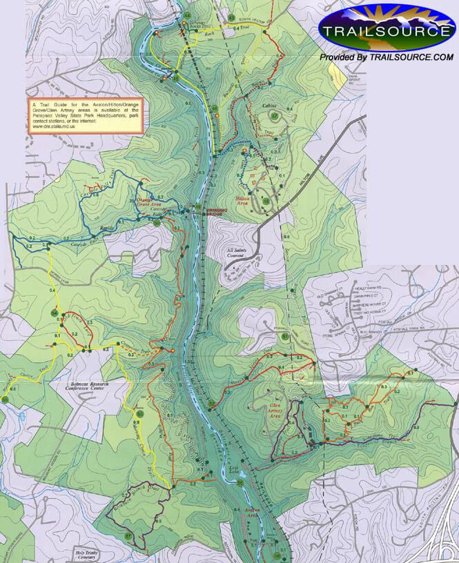 Avalon/Hilton/Orange Grove Areas Mountain Biking Map