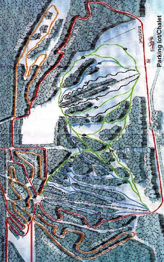 Tawatinaw Nordic Centre Cross Country Skiing Map