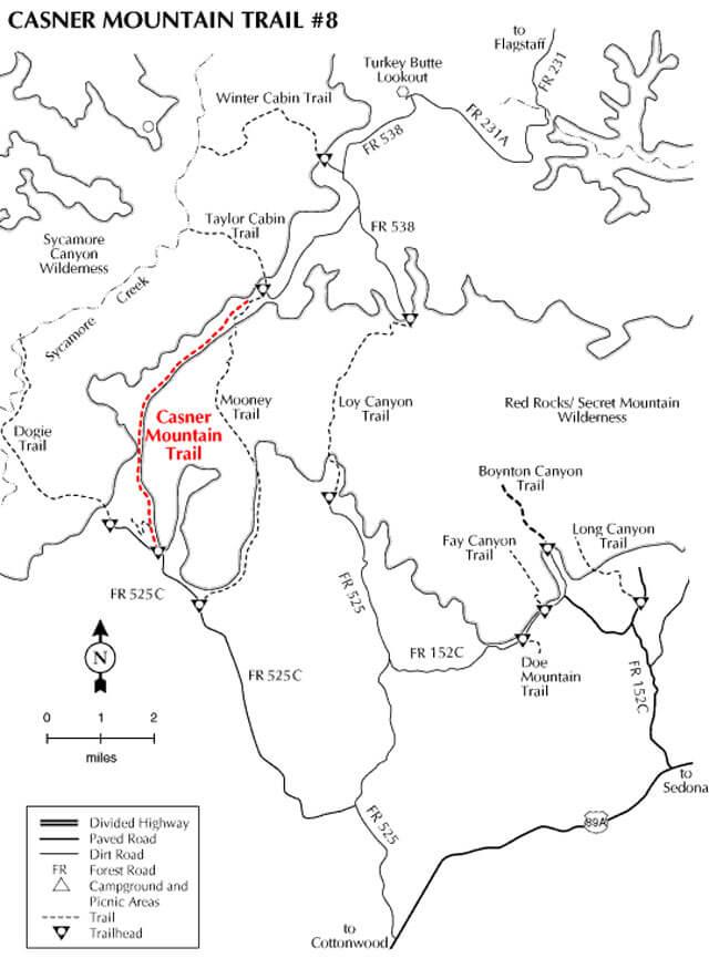 Casner Mountain Trail Horseback Riding Map