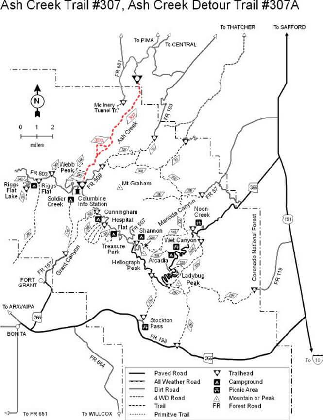 Ash Creek Horseback Riding Map
