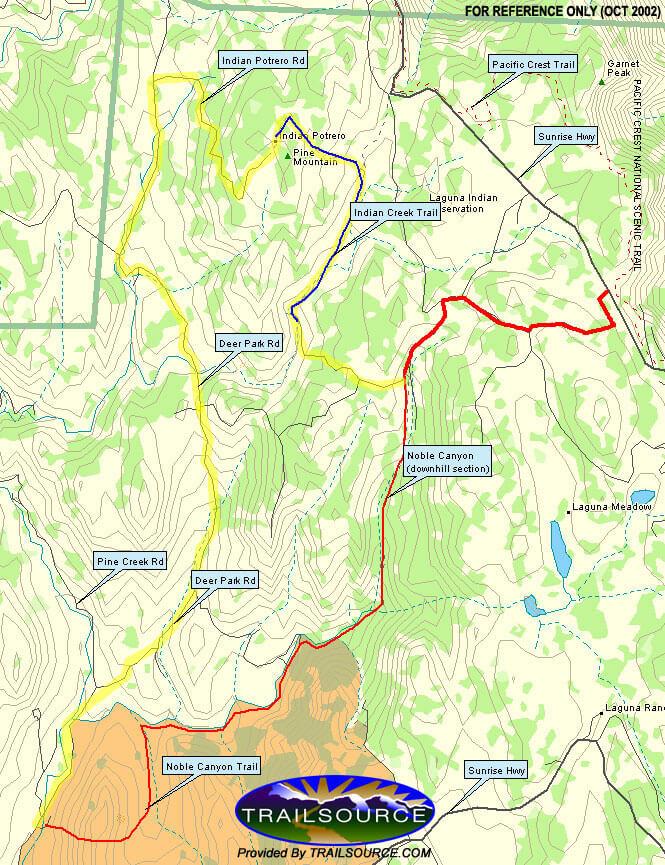Pioneer Mail Trailhead Horseback Riding Map