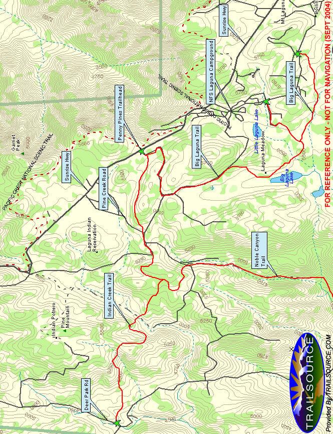 Penny Pine Trailhead Horseback Riding Map
