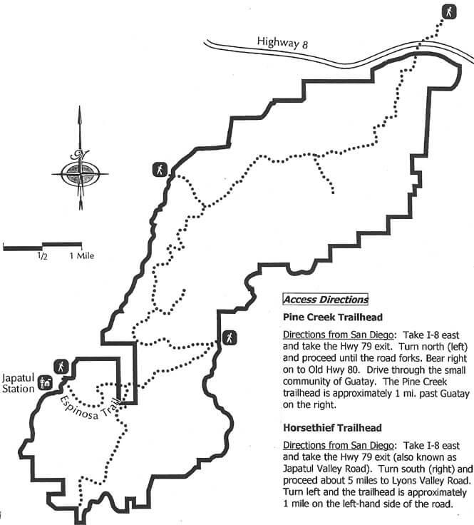 Horsethief Trailhead Horseback Riding Map
