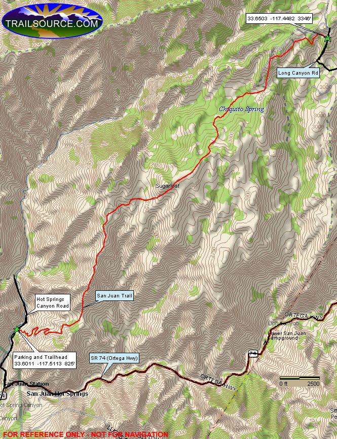 San Juan Trail Hiking Map