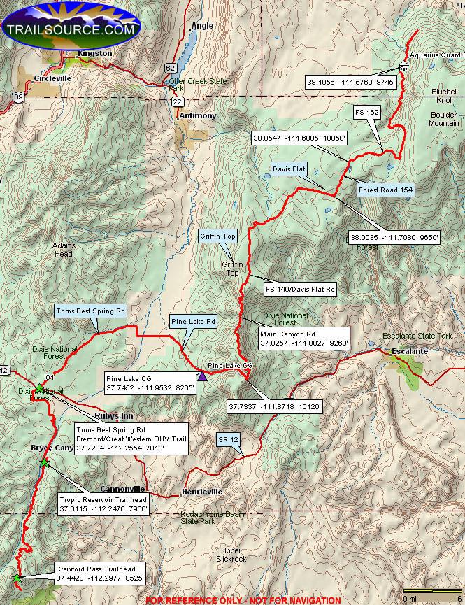 Great Western Trail ATV Trails Map