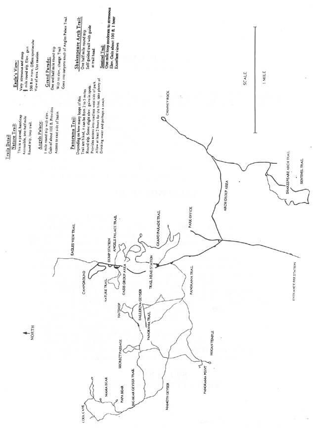 Kodachrome State Park Hiking Map