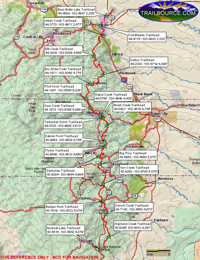 Centennial Trail Horseback Riding Map