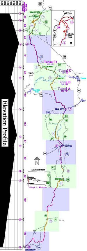 Mickelson Trail Horseback Riding Map